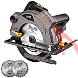 "Circular Saw TECCPO 7-1/4"" 5500 RPM Saw with Laser Guide, 2..."