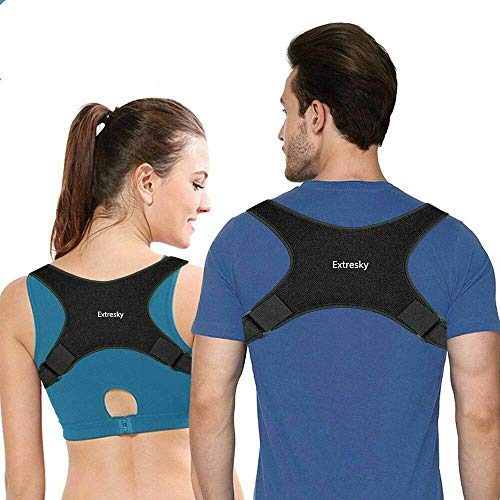Posture Corrector for Men and Women - Comfortable Adjustable Upper Back Brace for Clavicle Support - Neck, Back and Shoulder Pain Relief(FDA Approved) (Best Upper Back Support Brace)