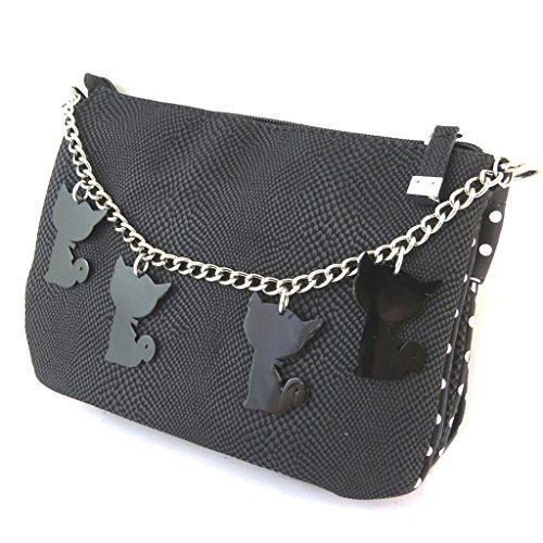 Bag designer Lollipopspiselli neri (3 scomparti)- 22x16x13 cm. Tienda En Línea De Salida SR3sacnQG