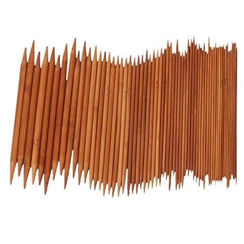 Bomien 5Pcs/15set Double Pointed Carbonized Bamboo Needles Set