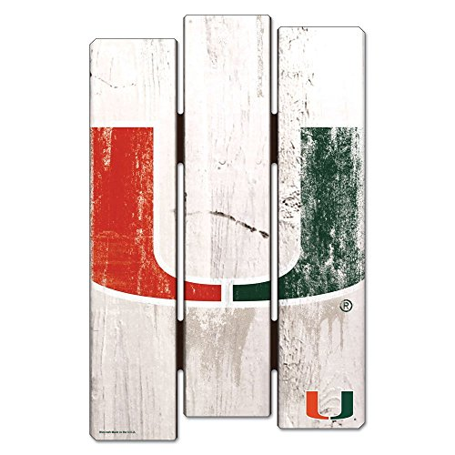 Ncaa Miami Hurricanes Street Sign - NCAA University of Miami Hurricanes Wood Fence Sign