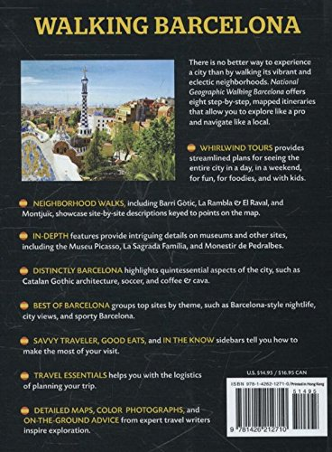 national geographic walking barcelona the best of the city