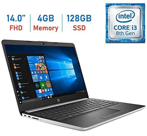 HP Premium 14'' FHD (1920x1080) IPS Micro-Edge Display Laptop PC, 8th Gen Intel Core i3-8130U Up to 3.4GHz, 4GB DDR4 SDRAM, 128GB SSD, Backlit Keyboard, WiFi, Bluetooth, Webcam, HDMI, Windows 10