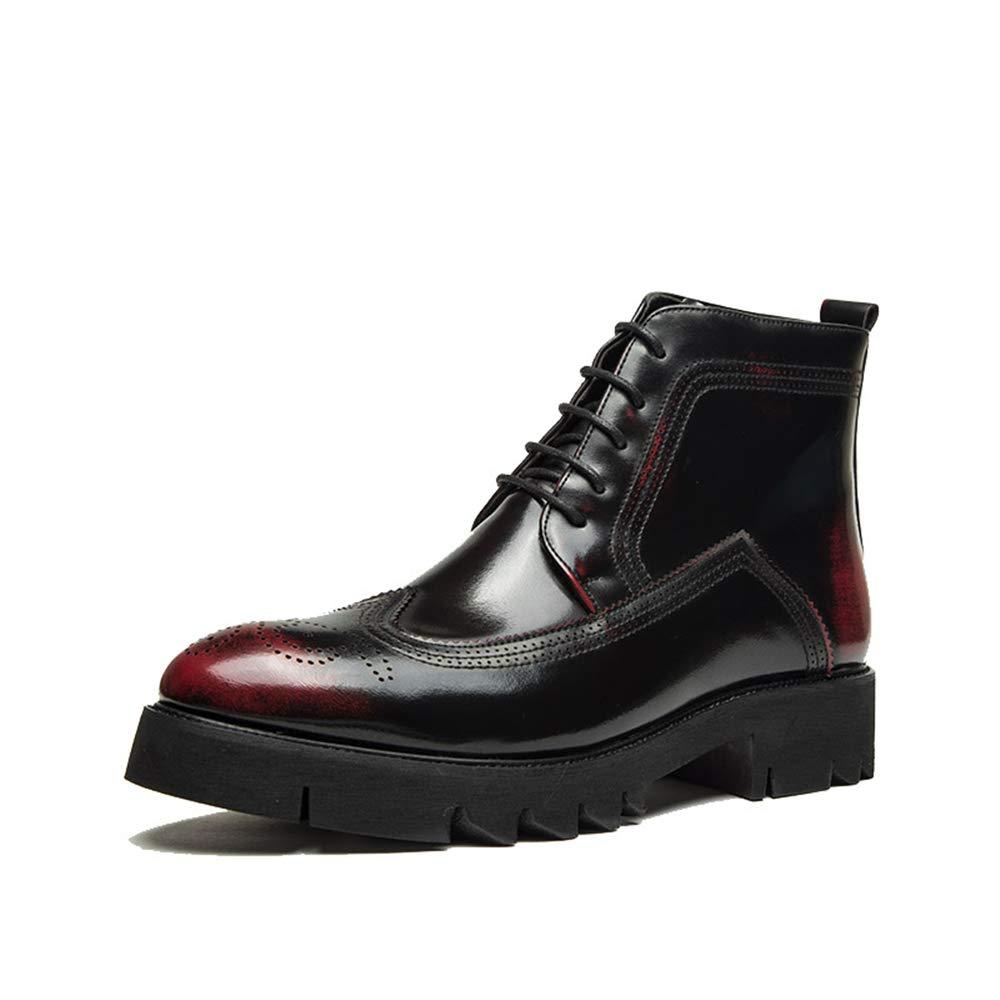 Dundun-Stiefel 2018 Kommende Stiefel, Herren High-Top Individuelle Schnürschuhe Schnürschuhe Schnürschuhe aus PU-Leder Mode Freizeit Stiefel Lässig (Farbe   Rot, Größe   38 EU) 3fcdbe