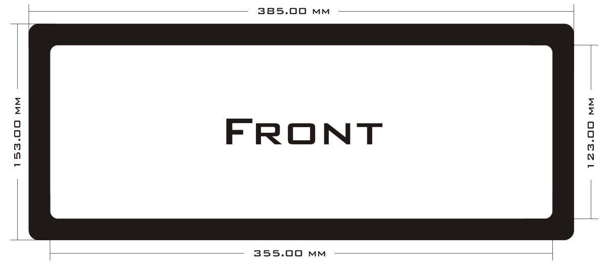 DEMCiflex Dust Filter for NZXT S340, Front, Black Frame/Black Mesh by DEMCiflex
