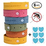 6-pack-Mosquito-and-Repellent-Bracelet-Plus-6-Insect-Repellent-Patchs-for-Kids-and-Adults-Effective-Bug-Individually-Wrapped-Bands-for-Camping-Trips-and-Summer-Vacation