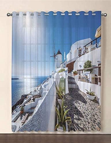 Joy2016 Sheer Voile Patio Door Curtain