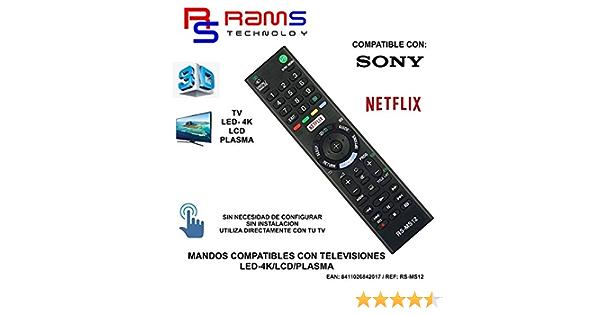 Rams Technology Mando a Distancia Compatible con TV Sony: Amazon.es: Electrónica