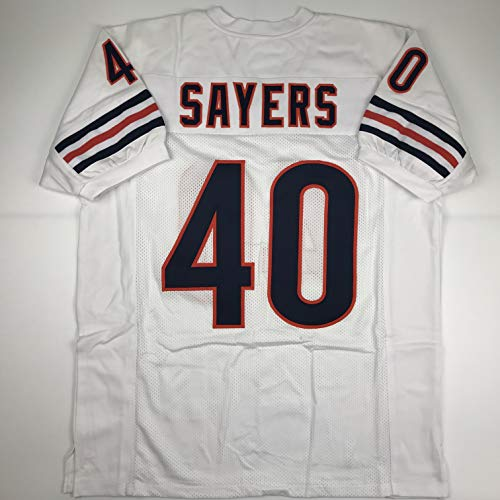 gale sayers signed mini helmet - 9