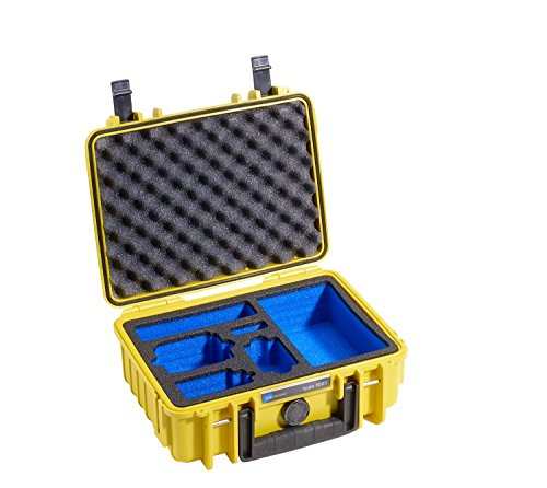 B&W International Type 1000 Outdoor Case with Custom GoPro Insert, Yellow