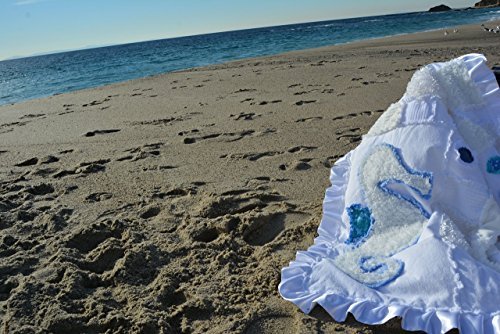 Swim away with me sea horse baby blanket by LaLazoch