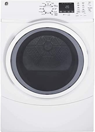Amazon.com: GE blanco 7,5 Cu. Ft. Carga Frontal vapor ...