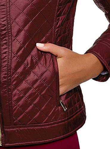 4900n Chaqueta Collection Rojo con Acolchada oodji Mujer Cremallera Sg10wvx