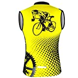 Sleeveless Cycling Jersey Aogda Men Bicycle Bike Shirts...