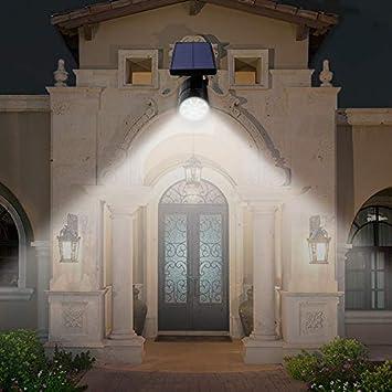 dostyle Solar Lights Outdoor, 800-Lumen 2 in 1 Solar Security Wall Lights In-Ground Lights Outdoor Solar Spotlight, Waterproof Solar Motion Sensor Lights Outdoor for Patio, Deck, Yard, Garden