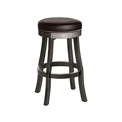 Astounding Harley Davidson Bar And Shield Flames Bar Stool W Vintage Black Finish Squirreltailoven Fun Painted Chair Ideas Images Squirreltailovenorg