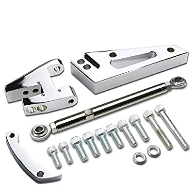 DNA motoring ABK-RC4307 ABKRC4307 Aluminum Alternator Bracket [for Chevy SBC Short Water Pump SWP]: Automotive