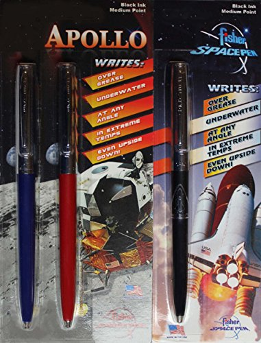 3 Pack Lot of Fisher Apollo & Shuttle Imprint Space Pens