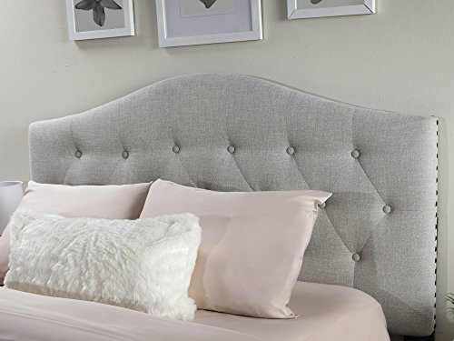 Atlantic Furniture AU121051 Naples Upholstered Headboard, King, Pebble Beach (Headboard Beach)