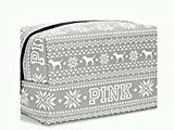 Victoria Secret Pink Best Deals - Victoria's Secret Pink Grey Fairisle Makeup Bag