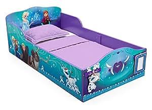 Delta Children Disney Frozen Wood Toddler Bed with Track Buddies