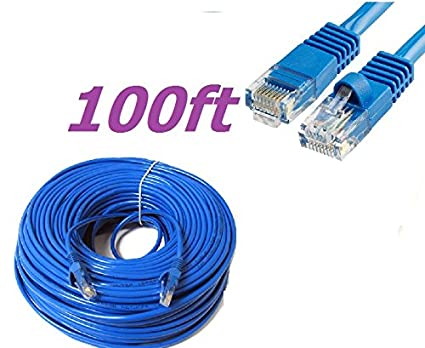 Amazon.com: CableVantage New 100ft 30M Cat5 Patch Cord Cable 500mhz ...