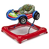 Delta Children Lil Drive Lights and Sounds Activity Walker with 3-Position Height Adjustment and Removable Toy Tray, RED