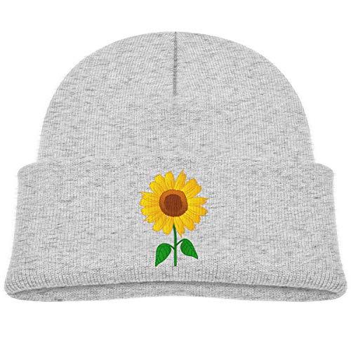 Qiop Nee Sunflower Clipart? Beanie Cap Knit Hat Baby Girls Gray