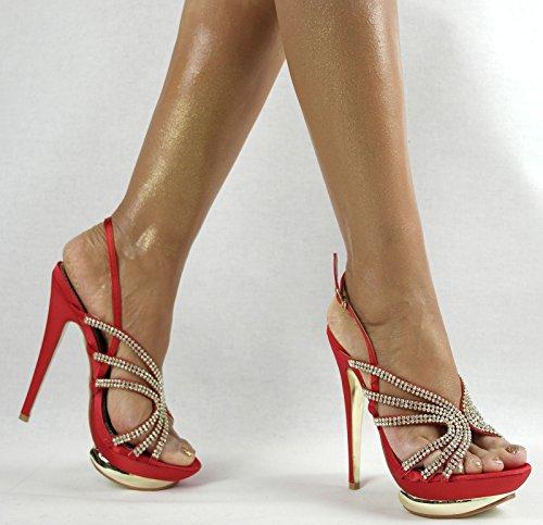 Shayenne - Zapatillas altas Mujer Rojo