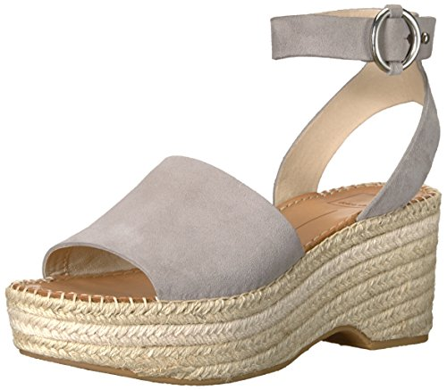 Dolce Vita Women's Lesly Espadrille Wedge Sandal, Grey Suede, 10 M US (Zappos Dolce Vita)