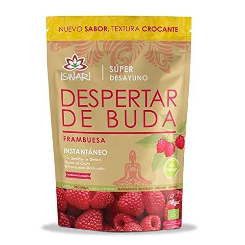 Iswari Ontwaken van Boeddha smaak framboos, milieuvriendelijk, veganistisch en glutenvrij, 380 g