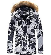 Yozai Women's Ski Jacket, Warm Winter Snow Coat Mountain Windbreaker Hooded Waterproof Parka Jackets