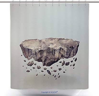 Amazon.com: vanfan-polyester cortinas de ducha bosque en ...