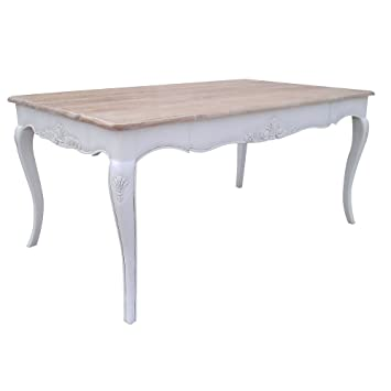 By Kiddie City Shabby Chic French Chateau White Dining Table Washed