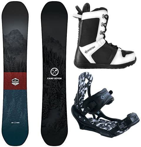 Camp Seven Redwood and APX Men s Complete Snowboard Package New 2020