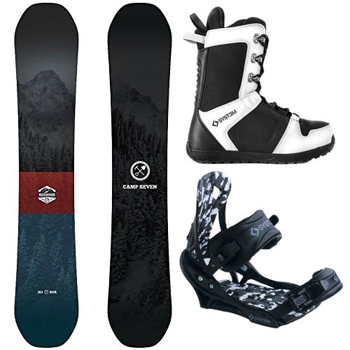 Camp Seven Redwood and APX Men's Complete Snowboard Package New 2019