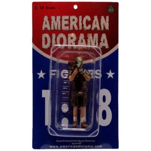 American Diorama 77734 - Véhicule Miniature - Modèle À L'Échelle - Figurines Camera Man - Norman - Echelle 1/18