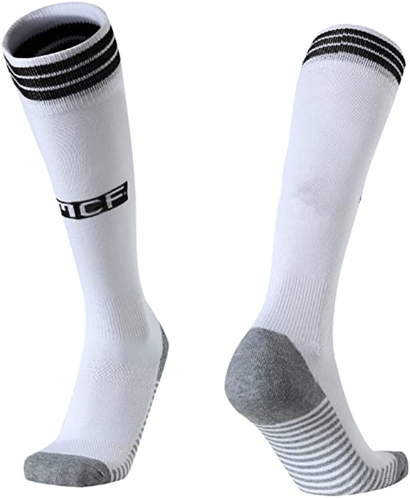 90bc5ea2b4ac1 18/19 Season Home Real Madrid Soccer Socks For Mens Fan Athletic Gift White  Sports Socks
