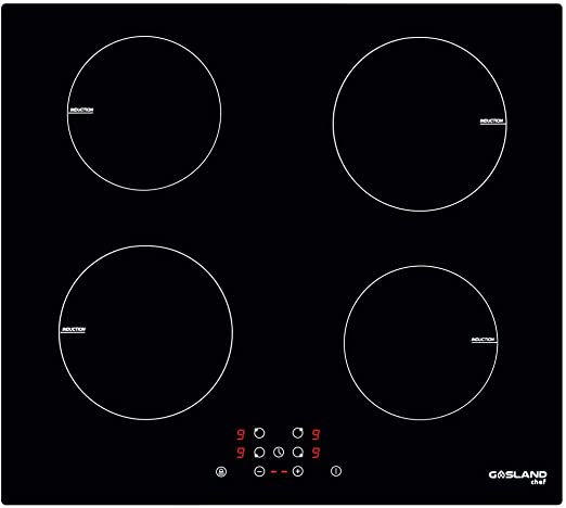 Drop-in 2 Square Burner Electric Induction Stove Top Power Boost Function 240V 3800W Hardwire GASLAND Chef 12 Built-in Induction Cooktop Child Safety Lock Round Slider Control