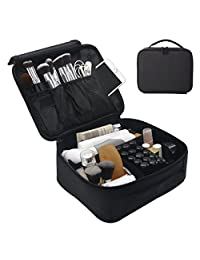 Makeup Cosmetic Case Beauty Box Storage Tool Brushes Bag Organizer Kit Make Up Artist Storage for Cosmetics, Makeup Brush Set, Toiletry And Travel Accessories (Black)