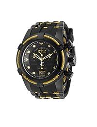 New Mens Invicta 90006 Reserve Bolt Zeus Swiss Chronograph Black Rubber Watch