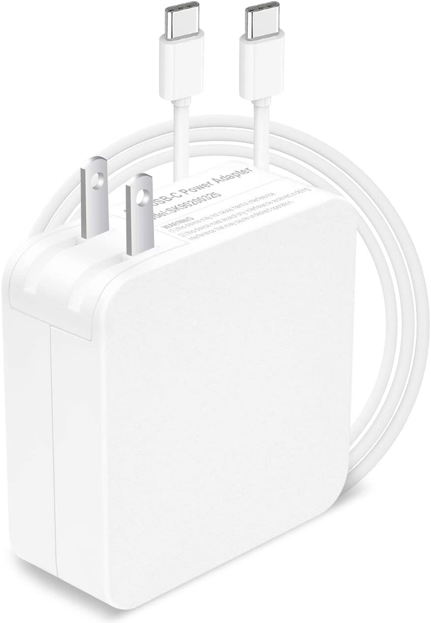 65W USB Type C Adapter Charger for Apple MacBook/Pro, Lenovo, ASUS, Acer, Dell, Xiaomi Air, Huawei Matebook, HP Spectre, Thinkpad and Any Other Laptops or Smart Phones