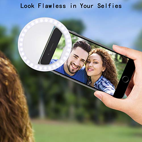 Fodizi Selfie Clip On Ring Light for Smart Phone Camera iPhone iPad Androids Vlogging on Instagram Facebook YouTube - 36 Rechargable LED Phone Light by Fodizi (Image #7)