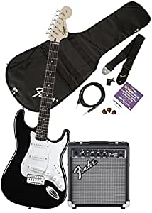 squier by fender affinity stratocaster beginner electric guitar pack with fender fm. Black Bedroom Furniture Sets. Home Design Ideas