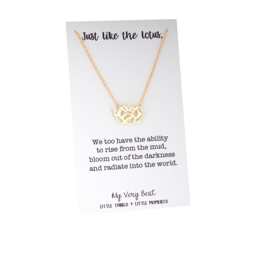 Amazon my very best blooming lotus flower necklace gold plated amazon my very best blooming lotus flower necklace gold plated brass jewelry izmirmasajfo