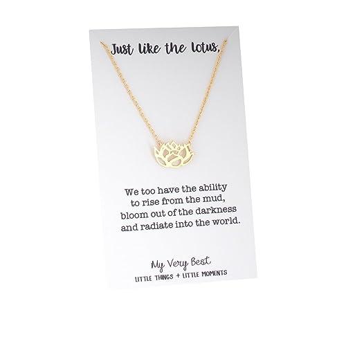 Amazon my very best blooming lotus flower necklace gold plated my very best blooming lotus flower necklace gold plated brass mightylinksfo