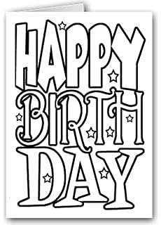 Color and create your own cards boxed kit greeting cards for all happy birthday kid set of coloring greeting cards 12 color card and envelopes bookmarktalkfo Choice Image