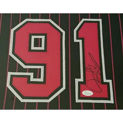 best service 655cd 2f411 Dennis Rodman Autographed Signed Jersey Framed Chicago Bulls ...