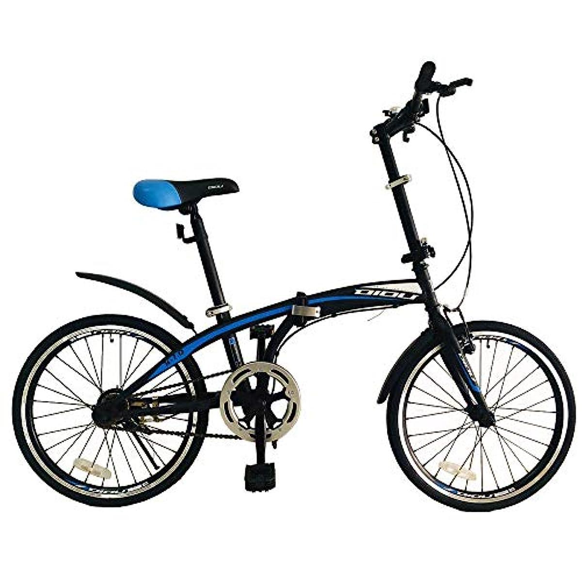 [해외] 【이탈리안 스타일】 접이식식 자전거 DIOU 【LED라이트/와이어 그린 표범준 장비】【PL보험 가입필】