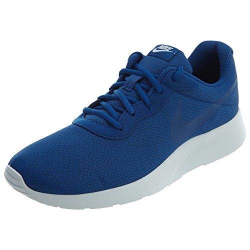 Nike Men's Tanjun Sneakers, Breathable Textile Uppers and, Blue, Size 9.5 Mgfu